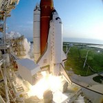 Space Shuttle Discovery lifts off Pad B at the Kennedy Space Center on September 12, 1993, to begin STS-51. Image credit: NASA